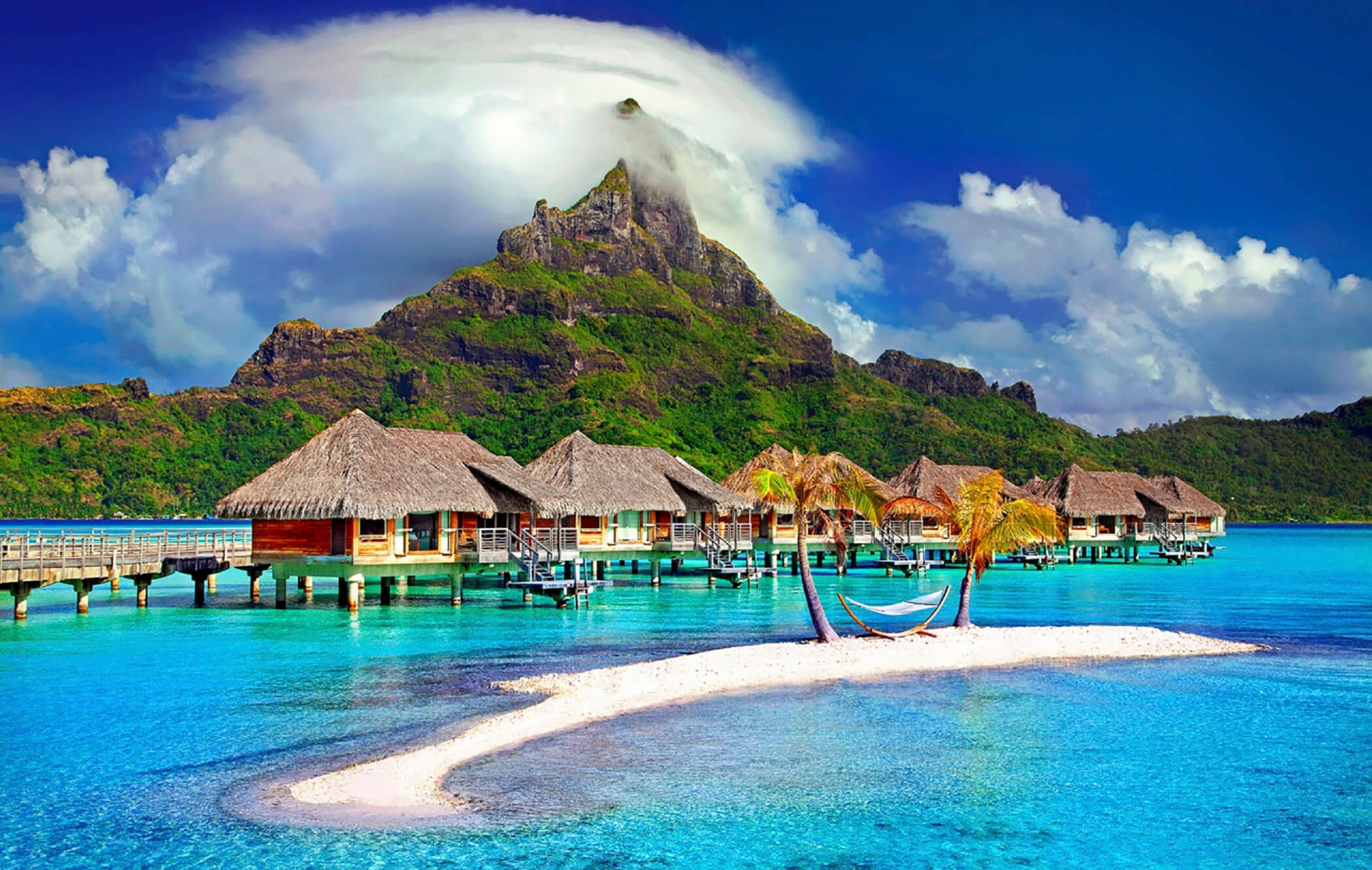 Houses on Bora Bora Island
