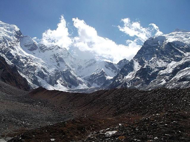 Close up view of Mount Api and Saipal.