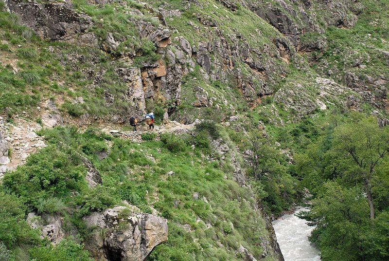 trekking route to Tibet