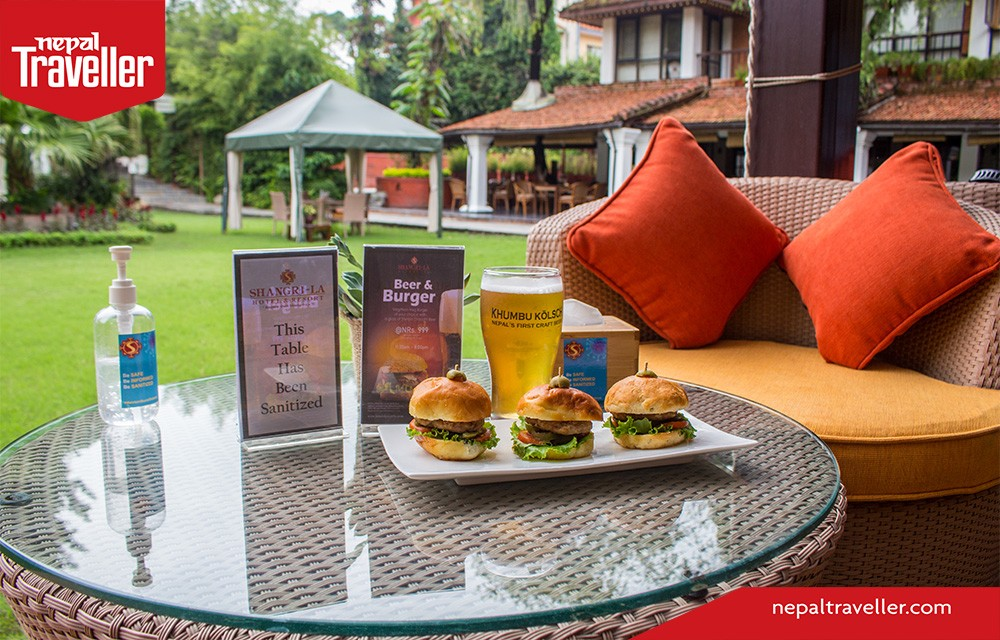 Hotel Shangri~la Food beer and burger