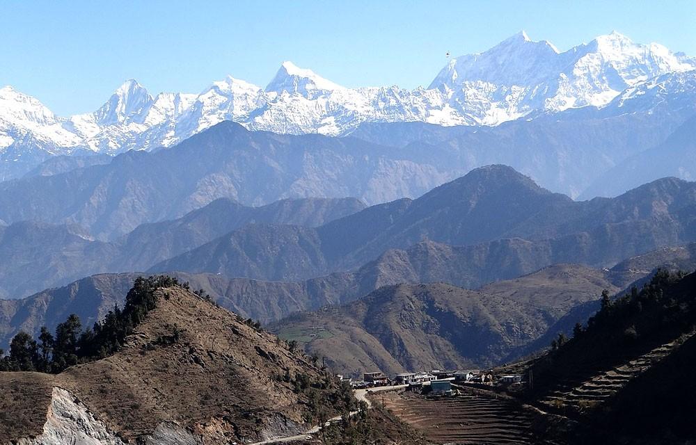 mountains from patan baitadi
