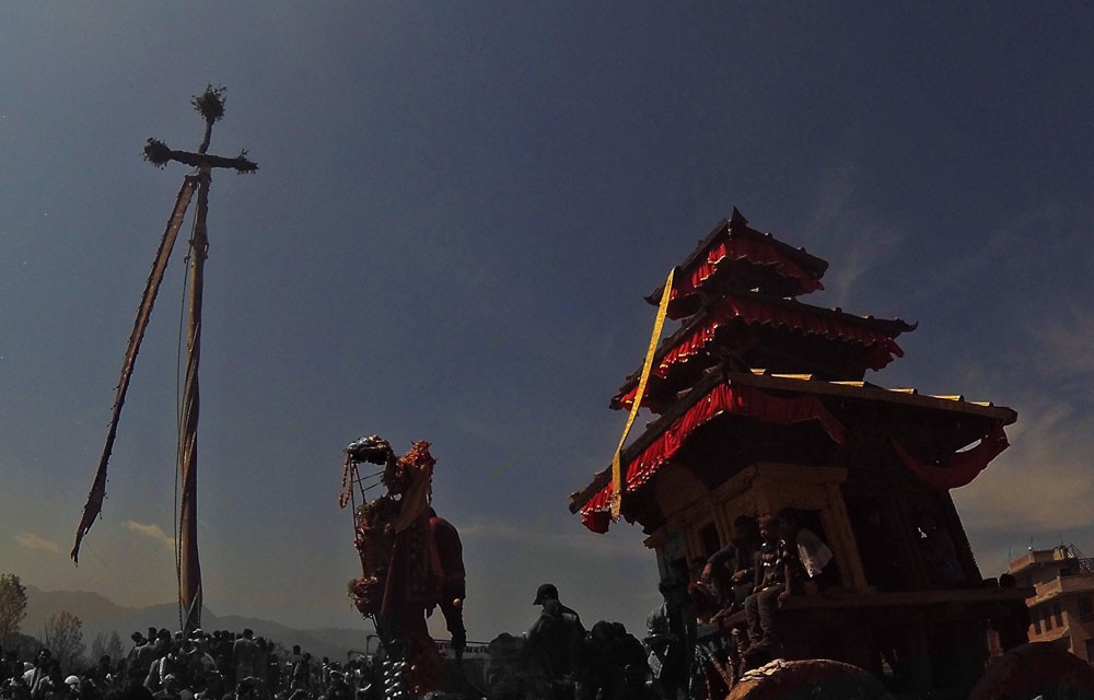 biska jata celebration in bhaktapur