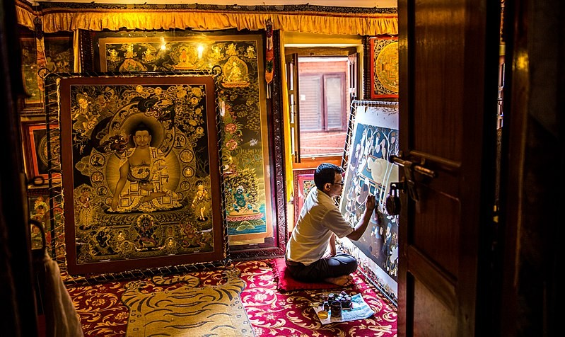 thanka art in bhaktapur, art and culture of bhaktapur